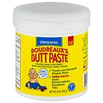 Boudreaux's Butt Paste, Orignal Diaper Rash Ointment Jar- 16 oz