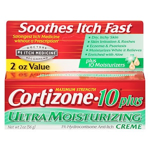 Cortizone 10 Plus Maximum Strength Hydrocortisone Anti-Itch Cream- 2 oz