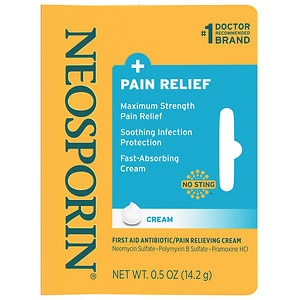 Neosporin Plus Pain Relief, Maximum Strength, First Aid Antibiotic Cream- .5 oz