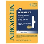 Neosporin Plus Pain Relief, Maximum Strength, First Aid Antibiotic Ointment- .5 oz