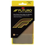 FUTURO Energizing Ultra Sheer Knee Highs for Women, Mild, Nude, Large- 1 pr