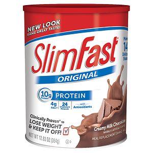 SlimFast Protein Shake Mix, Creamy Milk Chocolate, 12.83 oz