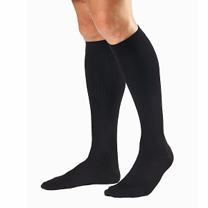 Jobst SupportWear Men's Dress Knee High Socks, Black, Medium