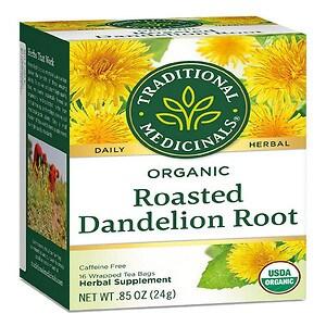 Traditional Medicinals Caffeine Free Organic Herbal Tea, Dandelion Root, 16 pk