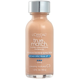 L'Oreal Paris True Match Super-Blendable Makeup, SPF 17, Creamy Natural