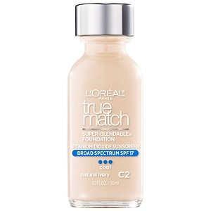 L'Oreal True Match Super-Blendable Makeup, SPF 17, Natural Ivory