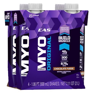 EAS Myoplex Original Ready To Drink, 4 pack, Chocolate Fudge- 17 oz
