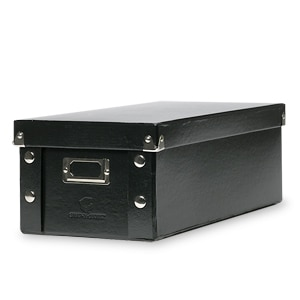 Snap-N-Store Collapsible Storage Box, DVD, Black- 1 ea