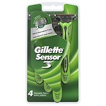 Gillette Sensor 3, Disposable Razor, Conditioning Shave- 4 ea