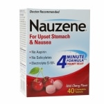 Nauzene Chewable Tablets for Nausea, Wild Cherry- 40 ea
