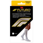 FUTURO Anti-Embolism Stockings, Knee Length, Closed Toe, White, Medium- 1 pr