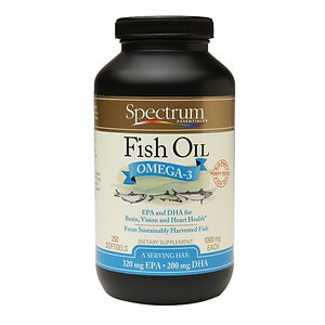 Spectrum Essentials Fish Oil Omega-3 1000mg Softgels, 250 ea