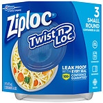 Ziploc Twist 'n Loc Containers Small 2 Cup- 3 ea