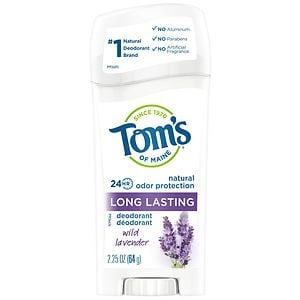 Tom's of Maine Natural Long Lasting Natural Deodorant, Lavender- 2.25 oz