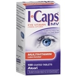 ICaps by Alcon, Lutein Enriched Multivitamin, Coated Tablets- 100 ea
