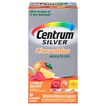 Centrum Silver Chewables Multivitamin and Multimineral, Chewable Tablets, Citrus Berry