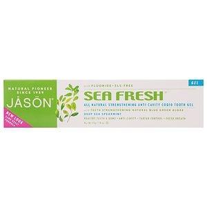 Jason Natural Cosmetics Sea Fresh, All-Natural Sea- Algae CoQ10 Tooth Gel, Deepsea Spearmint, 6 oz