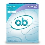 o.b. Non-Applicator Tampons, Value Pack, Ultra Absorbency- 40 ea
