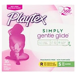 Playtex Gentle Glide Tampons, Unscented Multipack, 18 Regular &