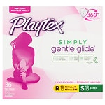 Playtex Gentle Glide 360 Plastic Tampons Multi-Pack, Fresh Scent, 18 Regular & 18 Super- 36 ea