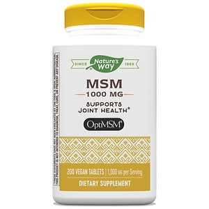 Nature's Way MSM 1000mg Pure OptiMSM, Tablets- 200 ea