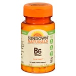 Sundown Naturals Vitamin B6, 100mg, Tablets- 150 ea