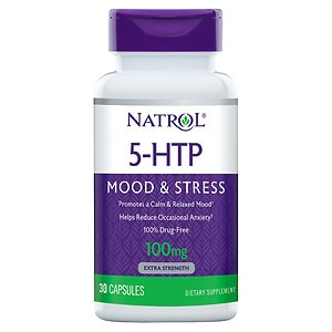Natrol 5-HTP 100 mg Double Strength Capsules- 30 ea