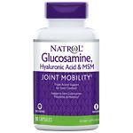 Natrol Hyaluronic Acid, MSM & Glucosamine, Vegetarian Capsules- 90 ea