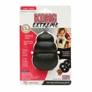 Kong Extreme Stuff'N Dog Toy, Black, Large- 1 ea
