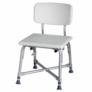 Medline Bath Bench with Back, White