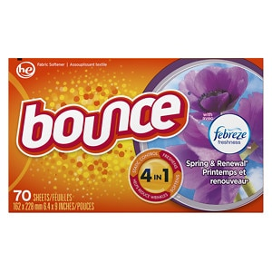 Bounce Fabric Sheets with Febreze, Spring & Renewal- 70 ea