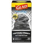Glad ForceFlex Extra Strong Drawstring Large Trash Bags, 30 Gallon- 25 ea