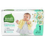 Seventh Generation Baby Free & Clear Diapers, Stage 1, 8-14 lbs- 160 ea