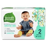 Seventh Generation Baby Free & Clear Diapers, Stage 2, 12-18 lbs- 144 ea