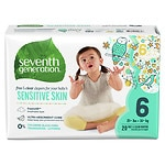 Seventh Generation Baby Free & Clear Diapers, Stage 6, 35+ lbs