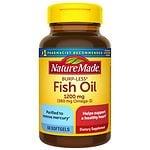 Nature Made Burp-Less Fish Oil, 1200mg, Liquid Softgels
