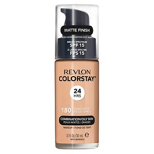 Revlon Colorstay for Combo/Oily Skin Makeup, Sand Beige 180- 1 fl oz