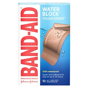 Band-Aid Tough-Strips Waterproof Bandages, Extra Large