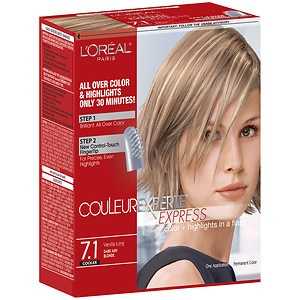 L'Oreal Couleur Experte Express Easy 2-in-1 Color + Highlights, Vanilla Icing, Dark Ash Blonde 7.1