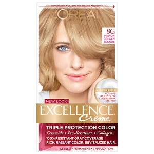 L'Oreal Excellence Creme Haircolor, Medium Golden Blonde 8G