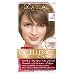 L'Oreal Paris Excellence Creme Triple Protection Color Creme Permanent Haircolor, Light Brown 6- 1 ea