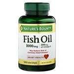 Nature's Bounty Odorless Fish Oil, 1000mg Omega-3, Softgels- 100 ea