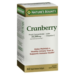 Nature's Bounty Triple Strength Natural Cranberry Fruit Concentrate Softgels, 60 ea