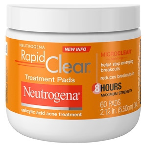 Neutrogena Rapid Clear Daily Treatment Pads Salicylic Acid Acne Treatment, Maximum Strength, 60 pads