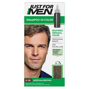 Just For Men Shampoo In Hair Color, Medium Brown 35