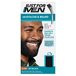 Just For Men Brush-In Color Gel for Mustache & Beard, Jet Black M-60- 1 ea