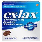 ex-lax Regular Strength Chocolate Stimulant Laxative- 48 ea