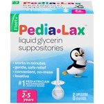 Fleet Children's Pedia-Lax, Liquid Glycerin Suppositories For Ages 2-5 years- 6 ea