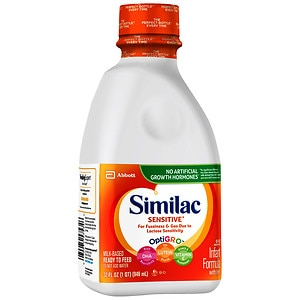 Similac Sensitive, Lactose Free Infant Formula with Iron, Ready to Feed