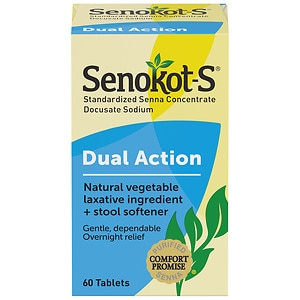 Senokot S Natural Vegetable Laxative Plus Softener